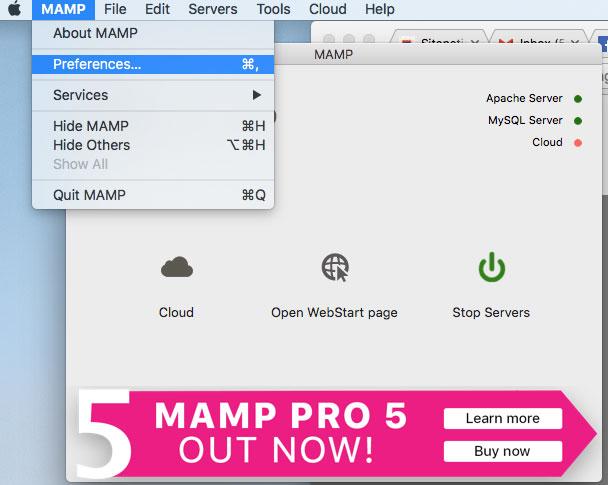 MAMP Error - phpMyAdmin - Error Incorrect format parameter